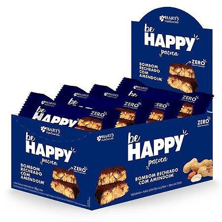 Bombom de Paçoca Zero Açúcar Be Happy Caixa 24 un