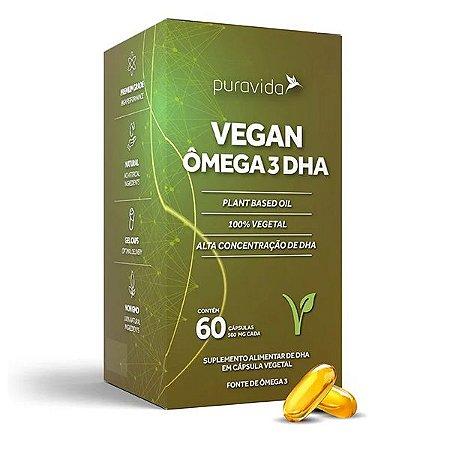 Ômega 3 Vegan DHA 60 Cápsulas Pura Vida