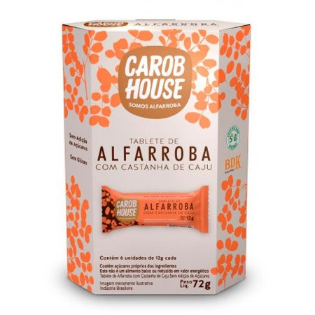 Tabletes de Alfarroba com Castanha de Caju 72g