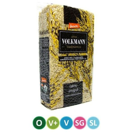 Arroz Cateto Integral Biodinâmico Volkmann 1Kg