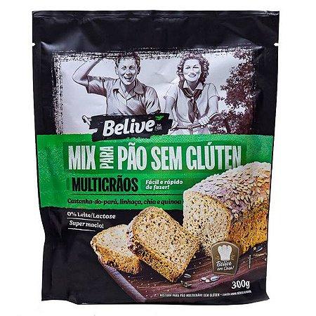 Mix para Pão Multigrãos Sem Glúten Belive 300g