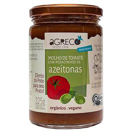 Molho Orgânico de Tomate com Azeitonas Agreco 325g