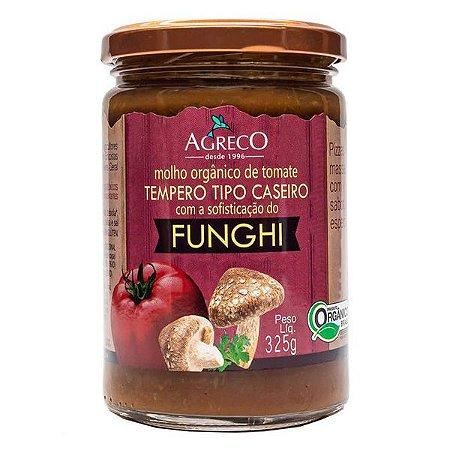 Molho Orgânico Tomate com Funghi Agreco 325g