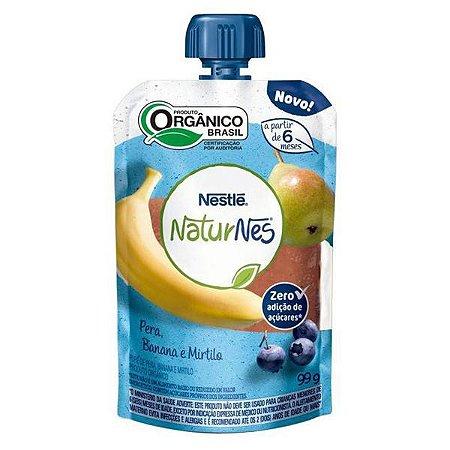 Purê Orgânico de Pera, Banana e Mirtilo Naturnes 99g
