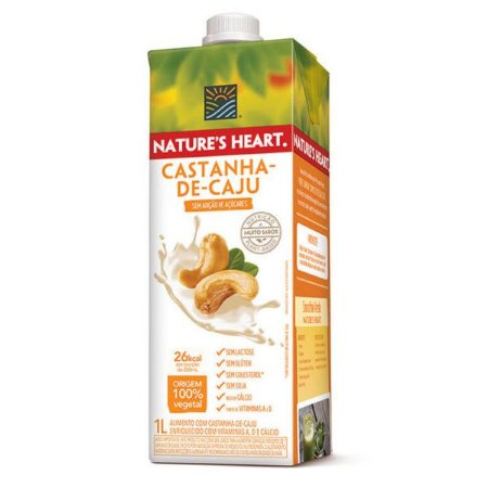 Leite de Castanha de Caju Nature's Heart 1 litro