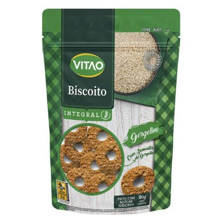 Biscoito Integral de Gergelim Vitao 80g