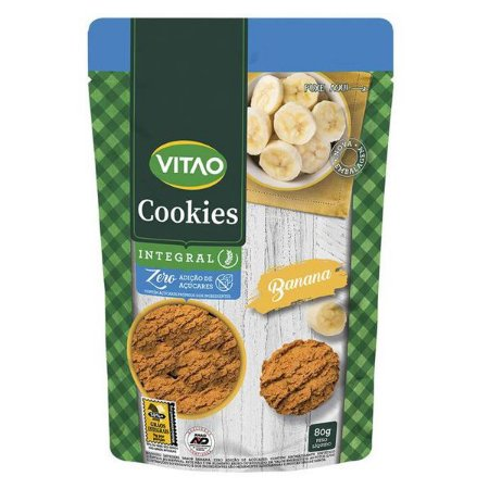 Cookie Integral de Banana Zero Açúcar Vitao 80g