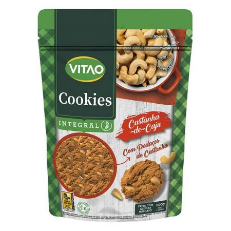Cookie Integral Castanha de Caju Vitao 200g