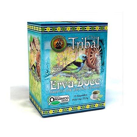 Chá Orgânico Erva Doce - Caixa 15 Sachês