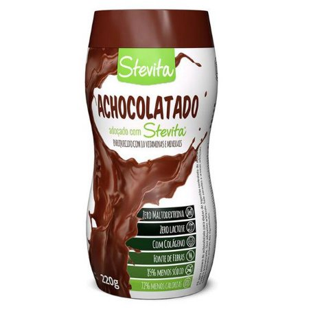 Achocolatado Diet com Stevia Stevita 220g