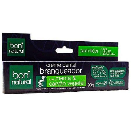 Creme Dental Vegano Carvão Ativado Boni Natural 90g