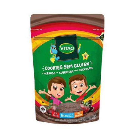 Cookie de Morango com Chocolate Sem Glúten 80g