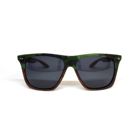 Óculos de madeira masculino Acir - Militar