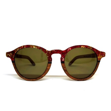 Óculos de madeira feminino Ena - resíduo de madeira