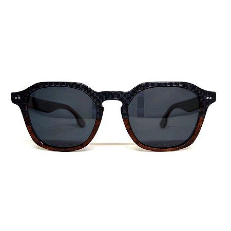 Óculos de madeira masculino Itagiba - Fibra de carbono