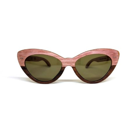 Óculos de madeira feminino Nina - Rosa