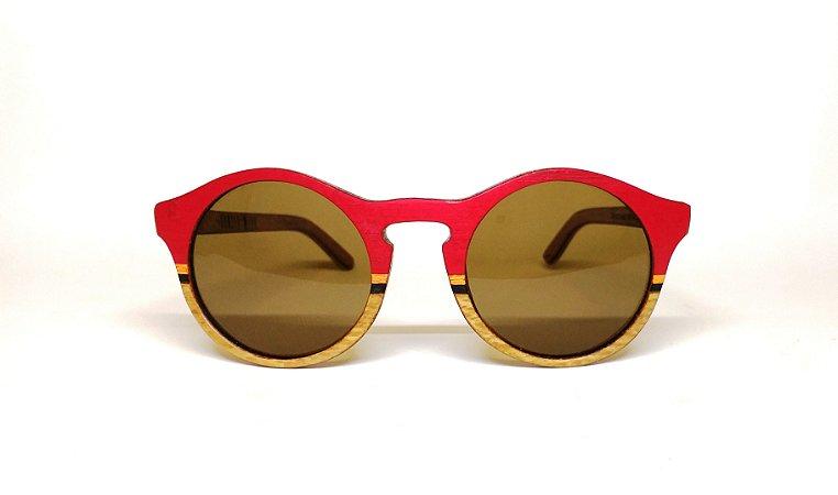 Óculos de Madeira Feminino Tibetano