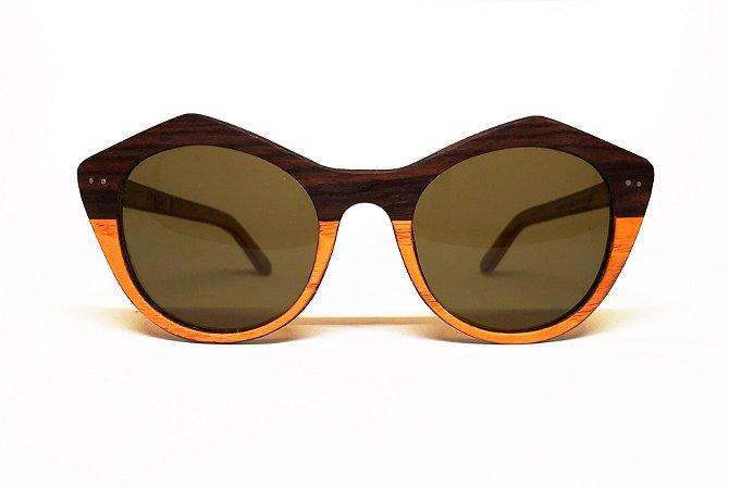 Óculos de Madeira Feminino Zoés