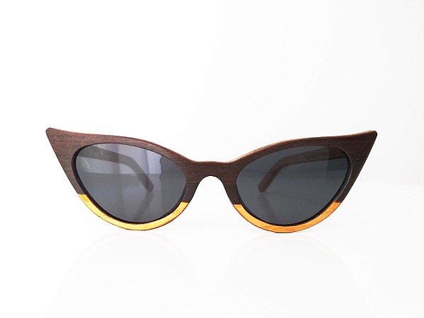 Óculos de Madeira Feminino Gês