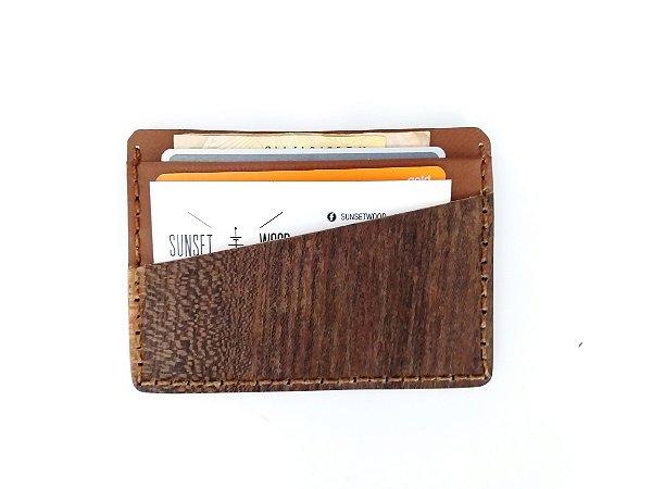 Porta cartão de madeira