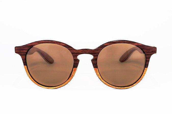 Óculos de madeira feminino Makuna - Jacarandá