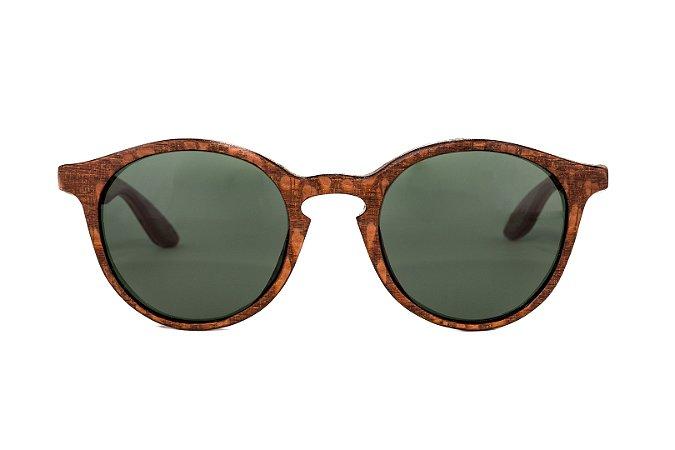 Óculos de madeira feminino Makuna - Louro Faia