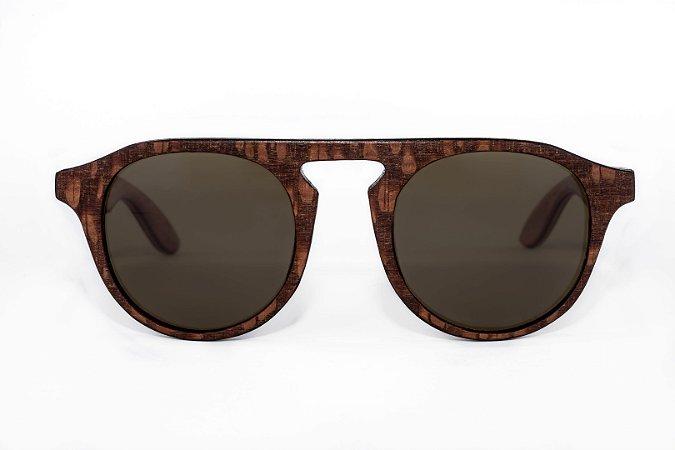 Óculos de madeira masculino Roani - Louro faia