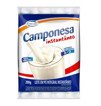 LEITE EM PÓ CAMPONESA INSTANTÂNEO  200G