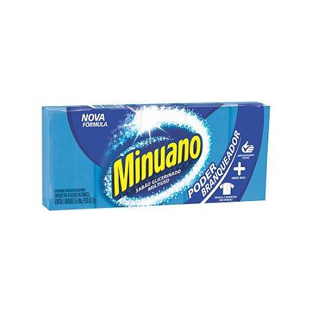 Sabão em barra Minuano azul Branqueador 1kg