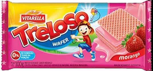 Biscoito Treloso Wafer Morango 100g