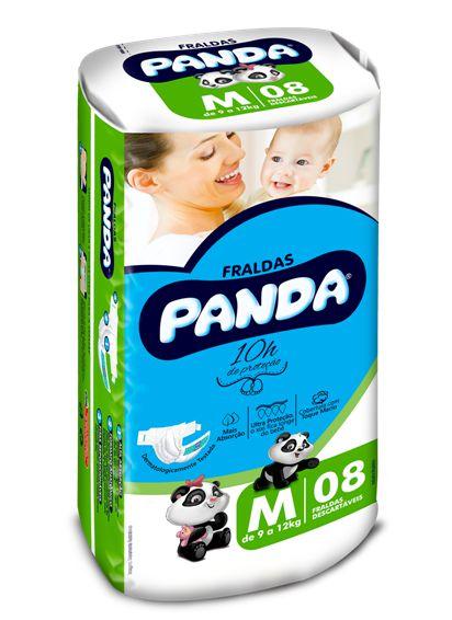 Fralda Panda Confort Tradicional M 8Und