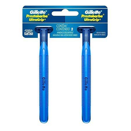 Aparelho de Barbear Prestobarba Ultragrip Gillette com 2 unidades