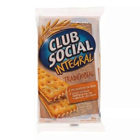 Biscoito Salgado Integral Tradicional Club Social 144g