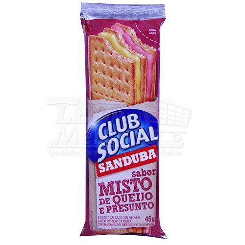 Biscoito Recheado Misto Club Social 45g
