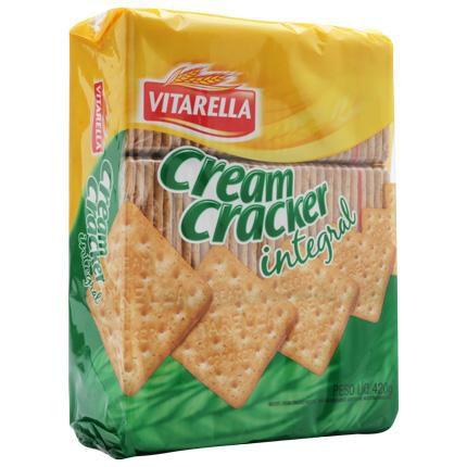 Biscoito Vitarella Cream Cracker Integral 420 g