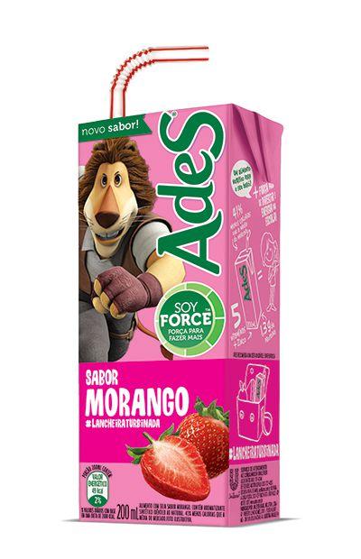 Bebida de Soja sabor Morango Ades 200ml