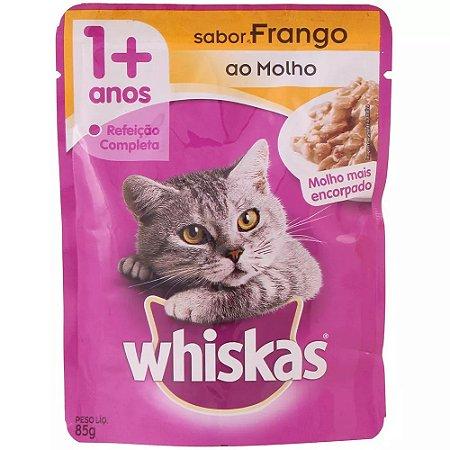 Ração Whiskas de Frango Sachê 85g