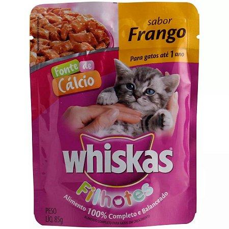 Ração Whiskas de Frango Sachê Filhote 85g