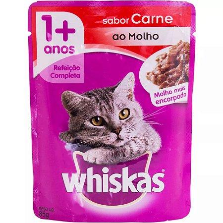 Ração  Whiskas de Carne Sachê 85g