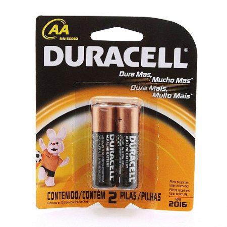 Pilha AA Duracell 02 unidades