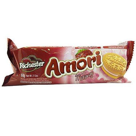 Biscoito Recheado Richester Amori Morango 60g