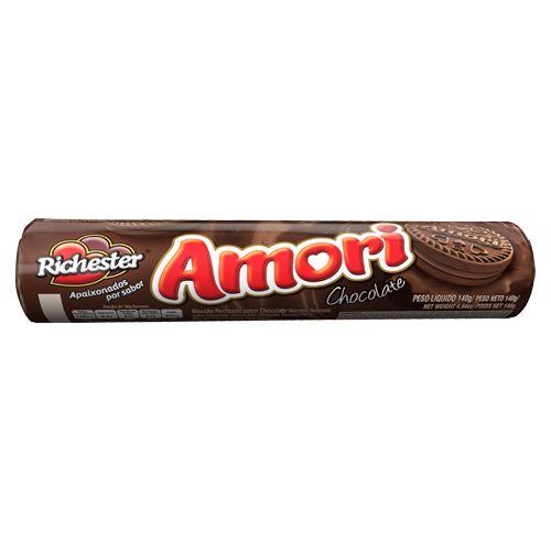 Biscoito Recheado Richester Amori Chocolate 140g