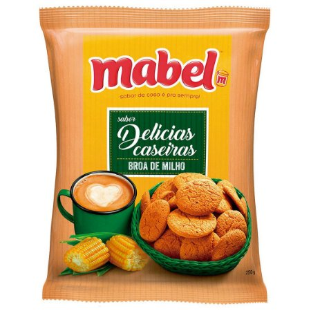 Biscoito Mabel Delicia Caseira Broa de Milho Pacote 250g