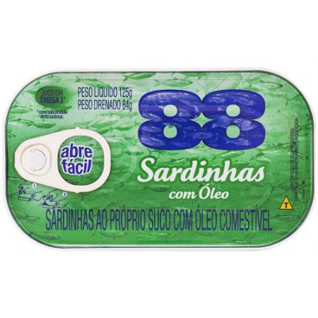 Sardinha em Óleo 88 Lata 125g