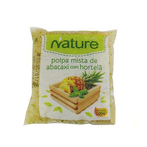 Polpa de Frutas Nature Abacaxi com Hortelã 100g