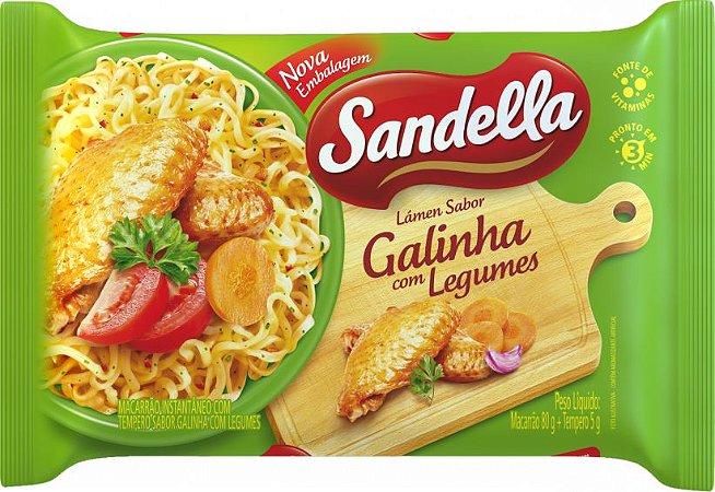 Macarrão Instantâneo Sandella Galinha com Legumes 85g