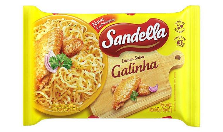 Macarrão Instantâneo Sandella Galinha 85g