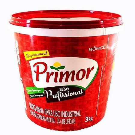 Margarina Vegetal Primor 75% Lipídios Balde 3KG