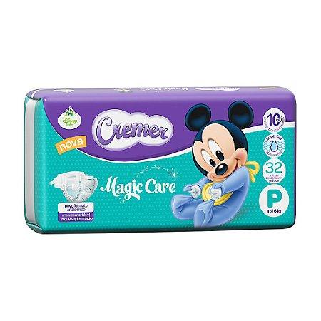 Fralda Cremer Magic Care Tamanho P 32 Unidades