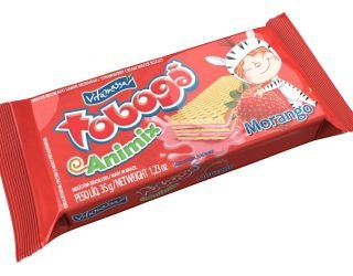 Biscoito Vitamassa Wafer Tobogã Animix Morango 35g